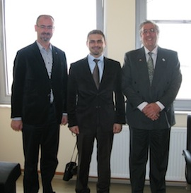 Dr John Basarin and Marcus Falay meet the Canakkale Port authority representative.
